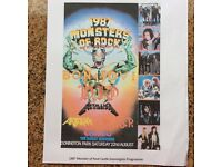 Monsters of Rock Castle Donnington 1987 Programme