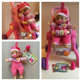 Little love 3 in 1 pushchair and doll