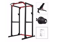 Complete home gym setup - Olympic weights, TRX, rack, etc - see ad for full list