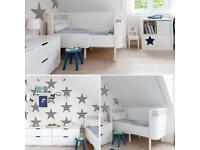 Sebra kili cot toddler bed white scandi Nordic