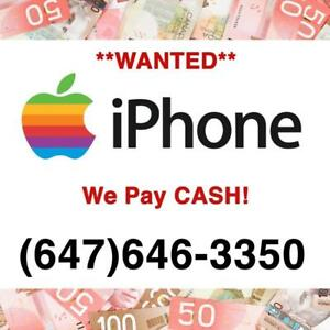 I will BUY your iPHONE for CASH! iPhone 6/6s/7/8/8 Plus/X/Xs Max/XR