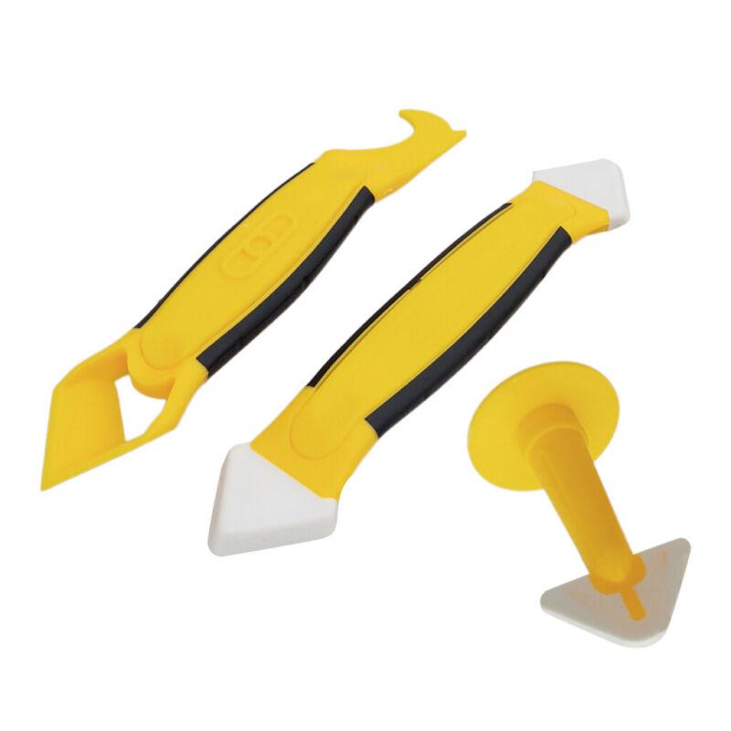 3Pieces Silicone Caulking Tool Set Sealant Replace & Removal w/ Caulk Nozzle