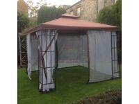 As new strong quality Gazebo only 3 months old with substantial metal framework