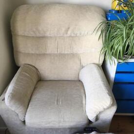 G-plan arm chairs - pale beige