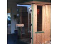 Sauna corner cabin.