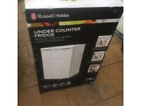 Russell Hobbs white undercounted fridge with ice box,A+ energy performance