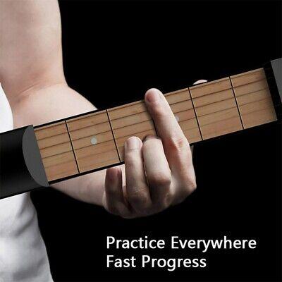 6 Fret Pocket Guitar/Portable Practice Guitar (Black) Have a lovely day US