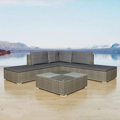 Garden Furniture - vidaXL 15 Piece Garden Sofa Set Rattan Wicker Patio Outdoor Seat Sun Lounger