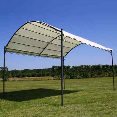 vidaXL Gazebo Roof Beige 4x3m Fabric Outdoor Garden Patio Shelter Tent Cover