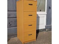 Wood effect 4 draw filing cabintes
