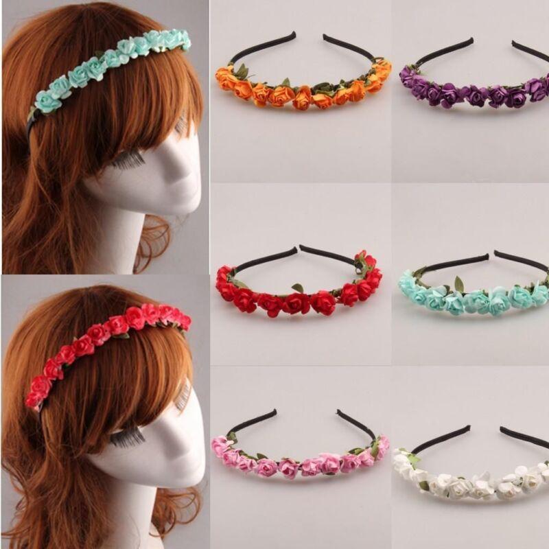 Fashion Azalea Flower Hair Band Headband Hair Clip Garland Beach Girl Accessory