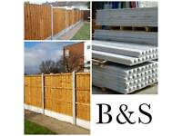 Fence panels , concrete post and gravel boards at low prices