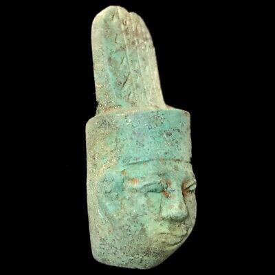 BEAUTIFUL ANCIENT EGYPTIAN BUST AMULET 300 BC