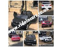 Mercedes GLS, 24v, Matt Black, Met Red, White,Parental Remote & Self Drive, 2 Seater