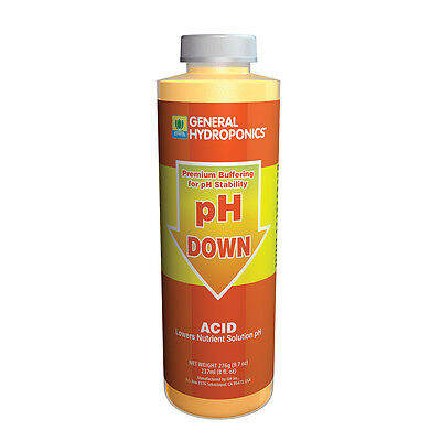 General Hydroponics pH Down 8 oz ounce - concentrate acid