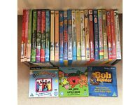 Large bundle of toddler/children's DVDs Bob, Thomas, Teletubbies, Night Garden, Charlie & Lola etc