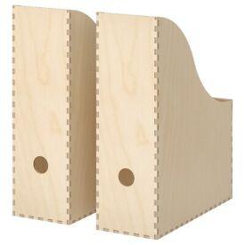 KNUFF Magazine file set of 2, plywood ** NEW**