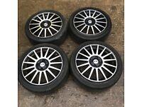 "Ford Focus / Fiesta 17"" sport alloy wheels - good tyres"