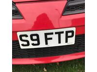 PRIVATE PLATE NUMBER REG S9FTP