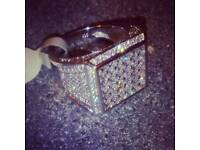 Real Brand new bling silver ring bag belt hat chain bracelet bike glasses Belt Nike