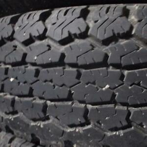 2 UNIROYAL LAREDO AWT LT235/75R15 C PLY TIRES NEW