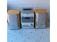 Thomson 3 CD Micro System CD & Cassette Player with Radio and Auxiliary port