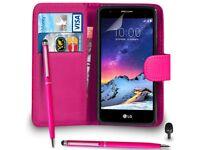Shocking pink LG phone cover
