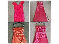 3 evening/bridesmaids dresses bundle size 8