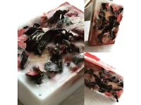 Handmade natural soap, lush, organic luxurious