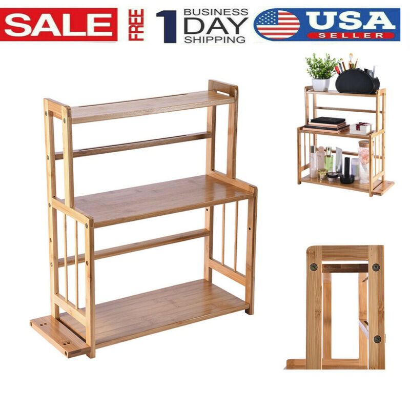 3-Tier Standing Spice Rack Kitchen Bathroom Countertop Organ