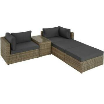 tectake - wicker tuinset San Domino - natuur- 403168
