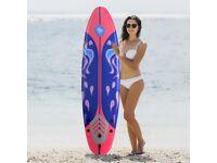 Costway UK Beginner Foam Surfboard Kids /Adults Soft Long Surfing Board