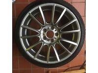BMW Genuine 19 inch style 228 alloy wheels with nearly new Bridgestone potenza tyres.