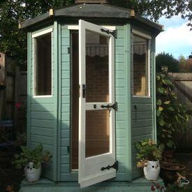 Pretty Octagonal wooden summerhouse