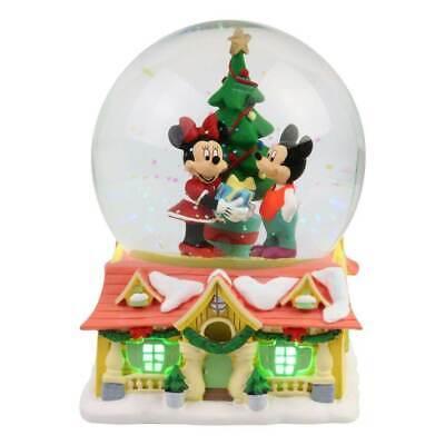 Department 56 Mickey & Minnie Christmas Lit Waterball