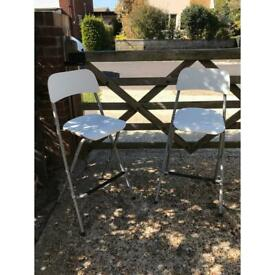 Folding chairs £6 pair
