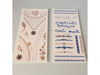 2 x Sheet of Metallic Temporary Tattoo - Beach / Holiday essential