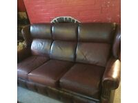 Brown/red lovely leather sofa