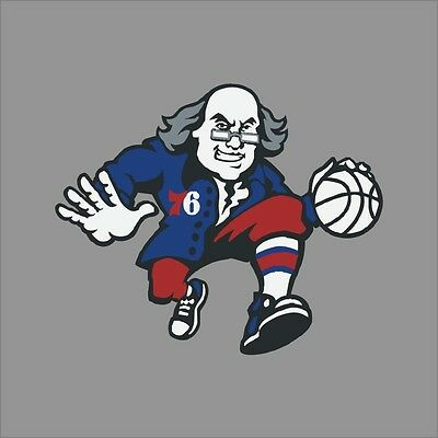 Philadelphia 76ers Logo Wall - Philadelphia 76ers #10 NBA Team Logo Vinyl Decal Sticker Car Window Wall