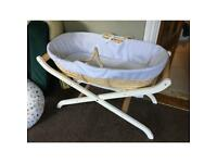 Moses Basket - hood, mattress and sheets included
