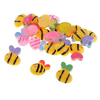 Bee Crafts For Kids - 20pcs Bee Resin Flatback Embellishment for DIY Kids Children Hiar Bow Crafts