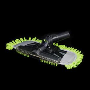 "Mophead Nozzle With Dust Fringe 14"" Wide 32Mm 1 1/4"" Neck Black With Lime Green Fringe"