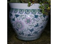 Large NOW SOLD Chinese Design Planter