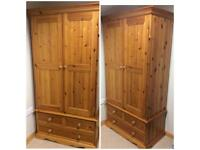 Double Wardrobe with 3 drawers