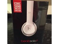 Beats Solo 2 wired headphones in white - new, boxed & unopened