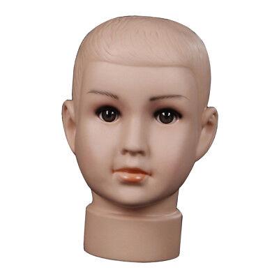 Children Mannequin Head Model Wig Mannequin Hair Hat Glasses Display Boys