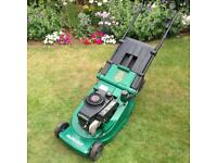 Petrol lawnmower. Qualcast lawn mower.