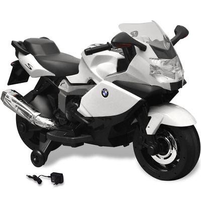 vidaXL BMW 283 Moto elettrica per bambini bianca batteria 6 V licenza ufficiale
