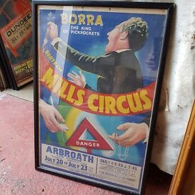 Framed Circus Posters - Dundee and Arbroath