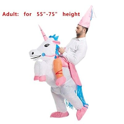 Adult' Unicorn Costume Inflatable Suit Halloween Cosplay Fantasy Costumes